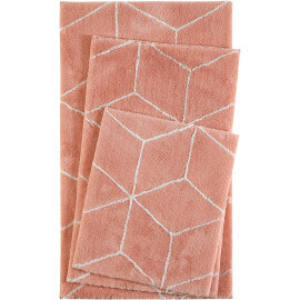 Tapis de bain orange géométrique Flair Esprit Home