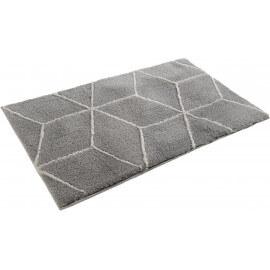 Tapis de bain argenté géométrique Flair Esprit Home