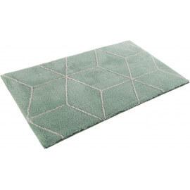 Tapis de bain vert géométrique Flair Esprit Home