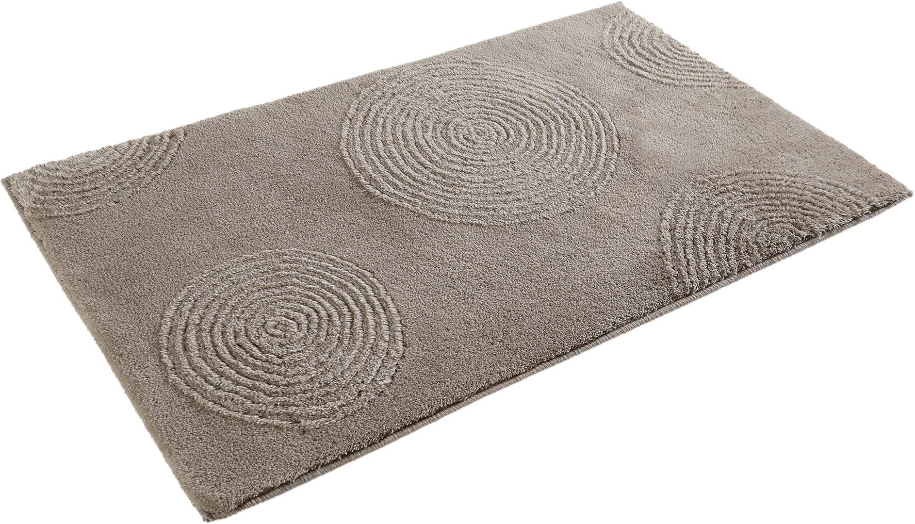 tapis pour salle de bain beige en acrylique yoga