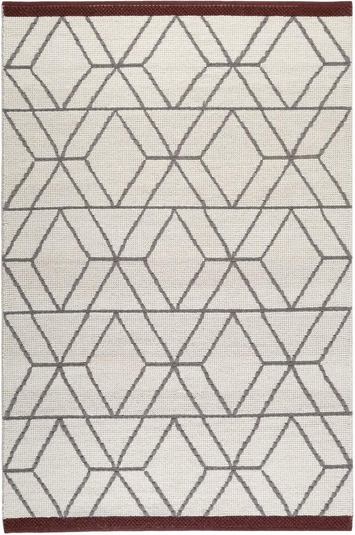 Tapis blanc de laine style scandinave Hexagon Esprit Home