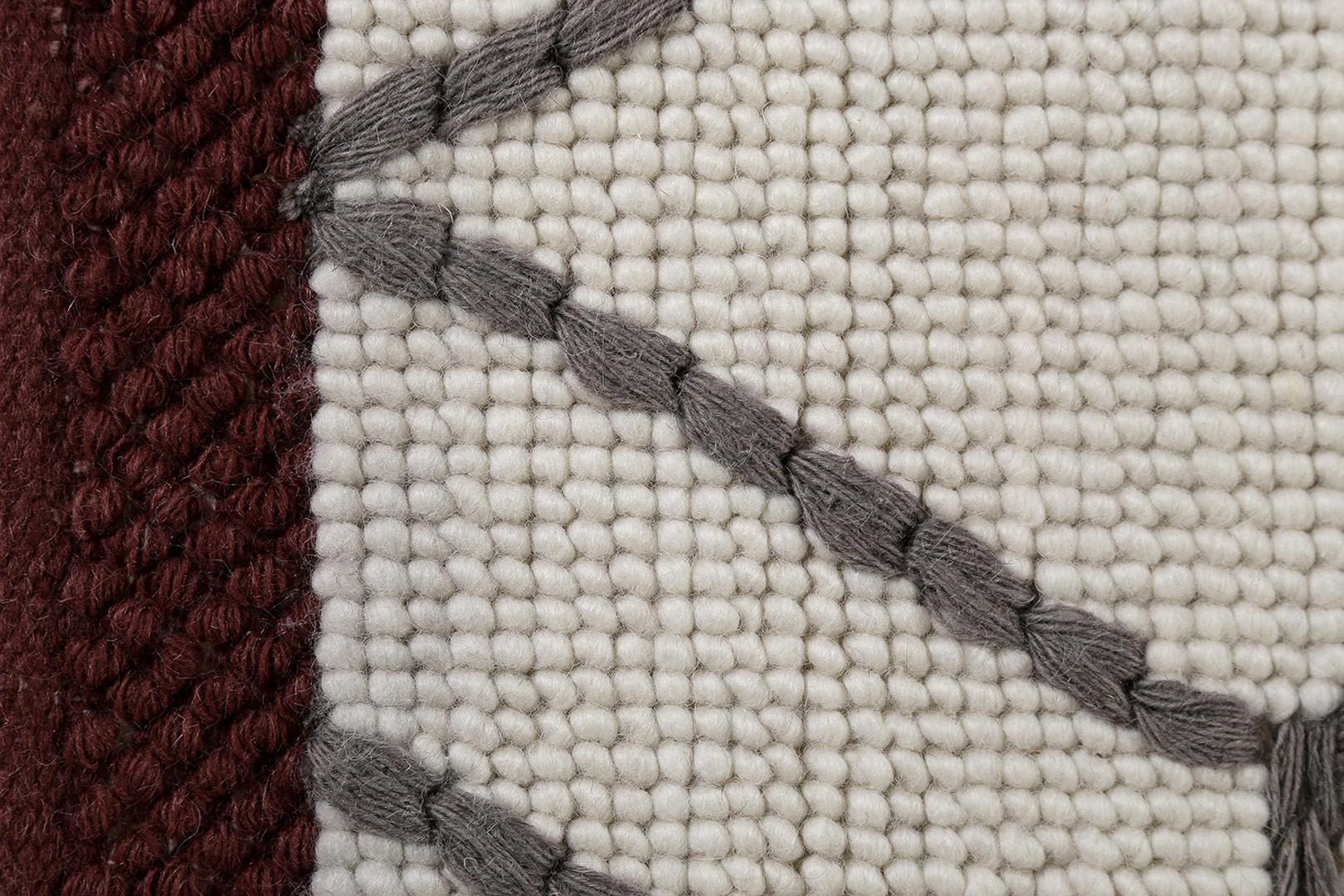 tapis blanc de laine style scandinave hexagon esprit home. Black Bedroom Furniture Sets. Home Design Ideas