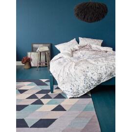 Tapis en coton gris géométrique Triango Kelim Esprit Home