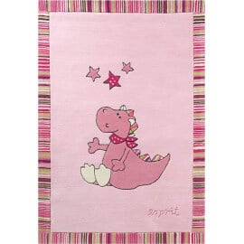 Tapis pour fille rose animal Sweet dragon Esprit Home