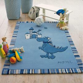 Tapis pour enfant bleu Dragon & castle Esprit Home
