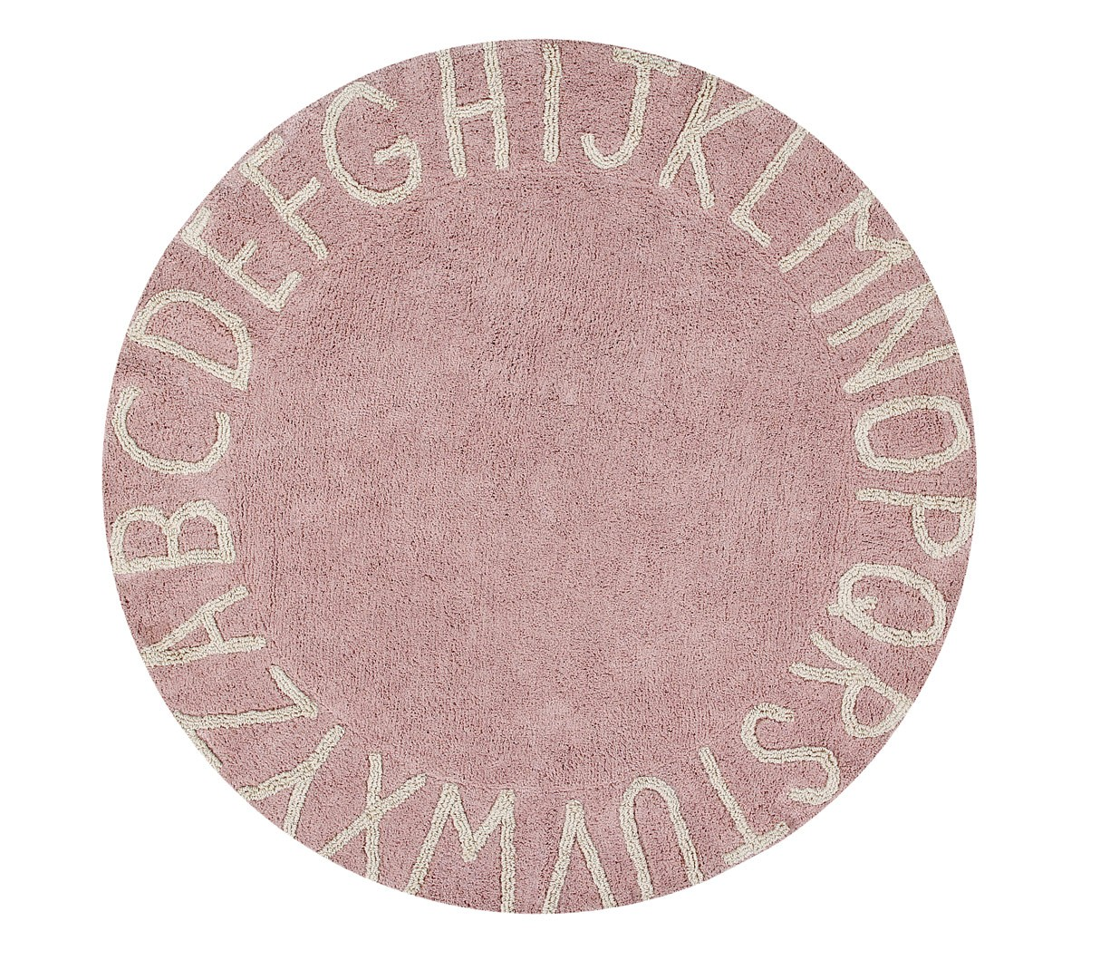 Tapis rond enfant lavable en machine Round ABC Lorena Canals