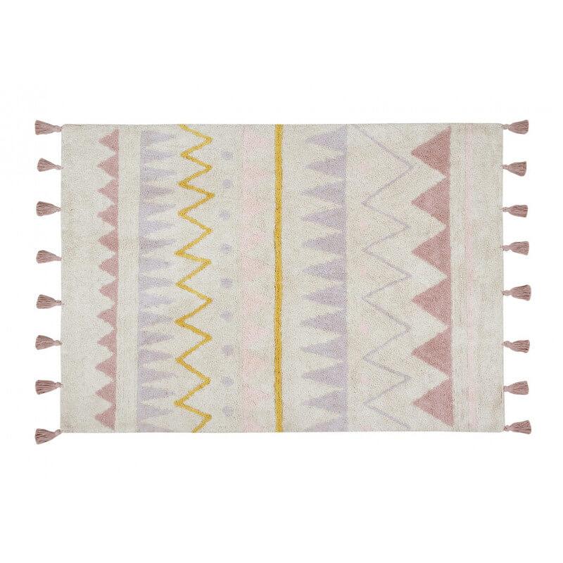 tapis avec franges lavable en machine rose azteca lorena canals. Black Bedroom Furniture Sets. Home Design Ideas