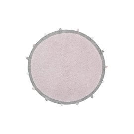 Tapis chambre enfant rond rose Bubbly Lorena Canals