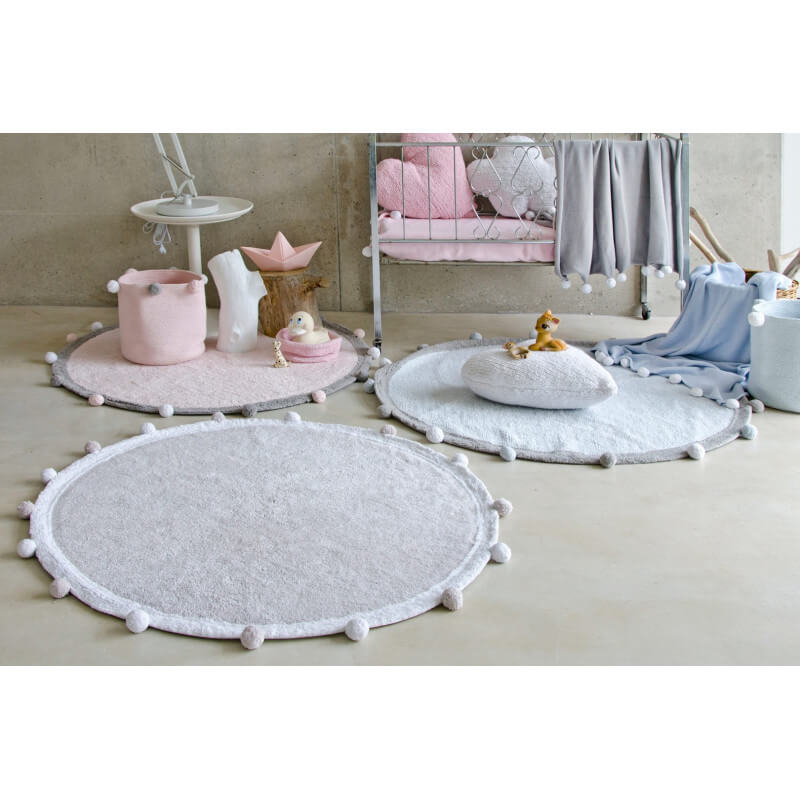 tapis chambre enfant rond rose bubbly lorena canals. Black Bedroom Furniture Sets. Home Design Ideas