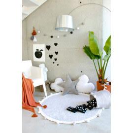 Tapis chambre enfant rond gris Bubbly Lorena Canals