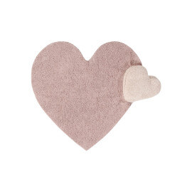 Tapis Lorena Canals rose lavable en machine Puffy Love