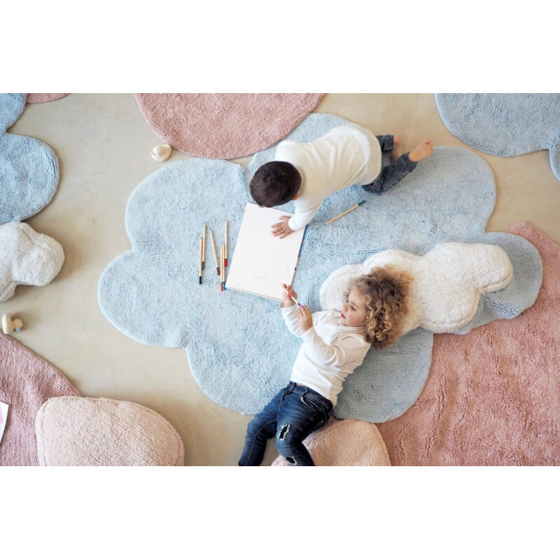 Tapis Lavable Nuage : Tapis nuage bleu enfant lorena canals puffy dream