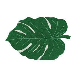 Tapis en forme de feuille pour salon Monstera Lorena Canals