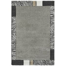 Tapis en polypropylène argenté rectangle Ancona
