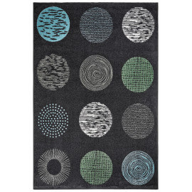 Tapis design anthracite pour salon Dario