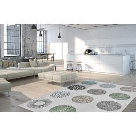 Tapis design blanc pour salon Dario