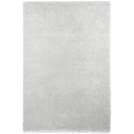 Tapis en polypropylène shaggy blanc uni Mida