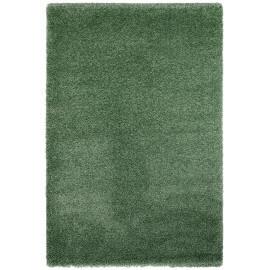 Tapis en polypropylène shaggy vert uni Mida