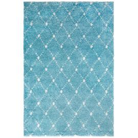 Tapis design pour salon shaggy bleu océan Aberti