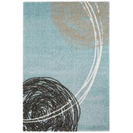Tapis moderne rectangulaire bleu océan Ingrid