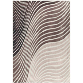 Tapis contemporain beige effet vague Tavira