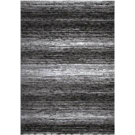 Tapis rayé argenté rectangulaire pour salon Palerme