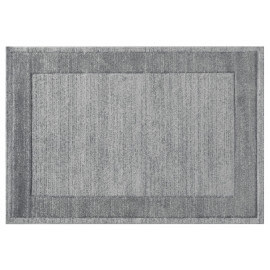 Tapis rectangle pour salon argenté Thala