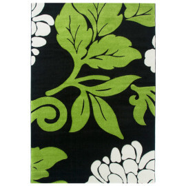Tapis fleuris vert moderne pour intérieur Trapani