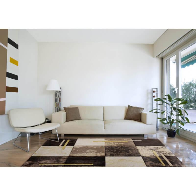 tapis moderne vintage beige navajo. Black Bedroom Furniture Sets. Home Design Ideas