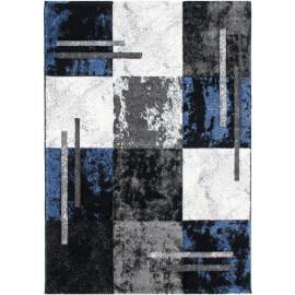 Tapis moderne vintage bleu Navajo