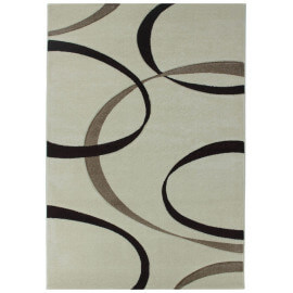 Tapis crème rectangle en polypropylène Toulon