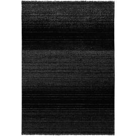 tapis uni courtes mches noir mounia - Tapis Noir