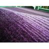 Tapis uni à courtes mèches violet Mounia