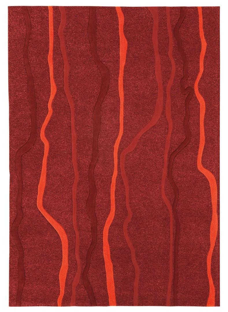 Tapis rouge Echo ligne par Arte Espina