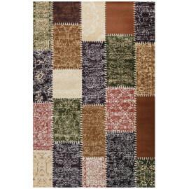 Tapis style patchwork multicolore à poils court Codosera