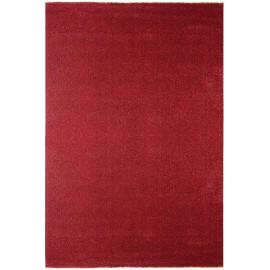 Tapis à courtes mèches uni rouge Blocalia