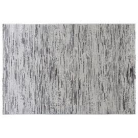 Tapis rayé effet vintage gris Belale