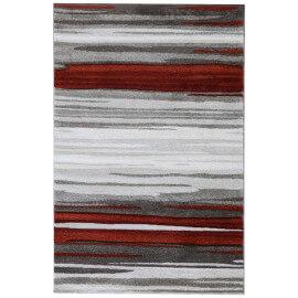 Tapis couleur terre rayé design Popundy