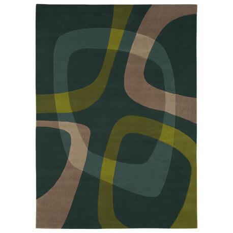 Tapis contemporain Showtime vert par Arte Espina