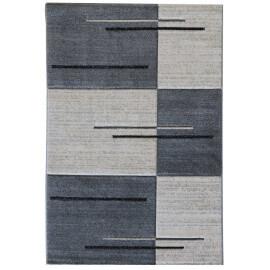 Tapis géométrique moderne gris Villandry