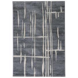 Tapis moderne rayé gris pour salon Walo