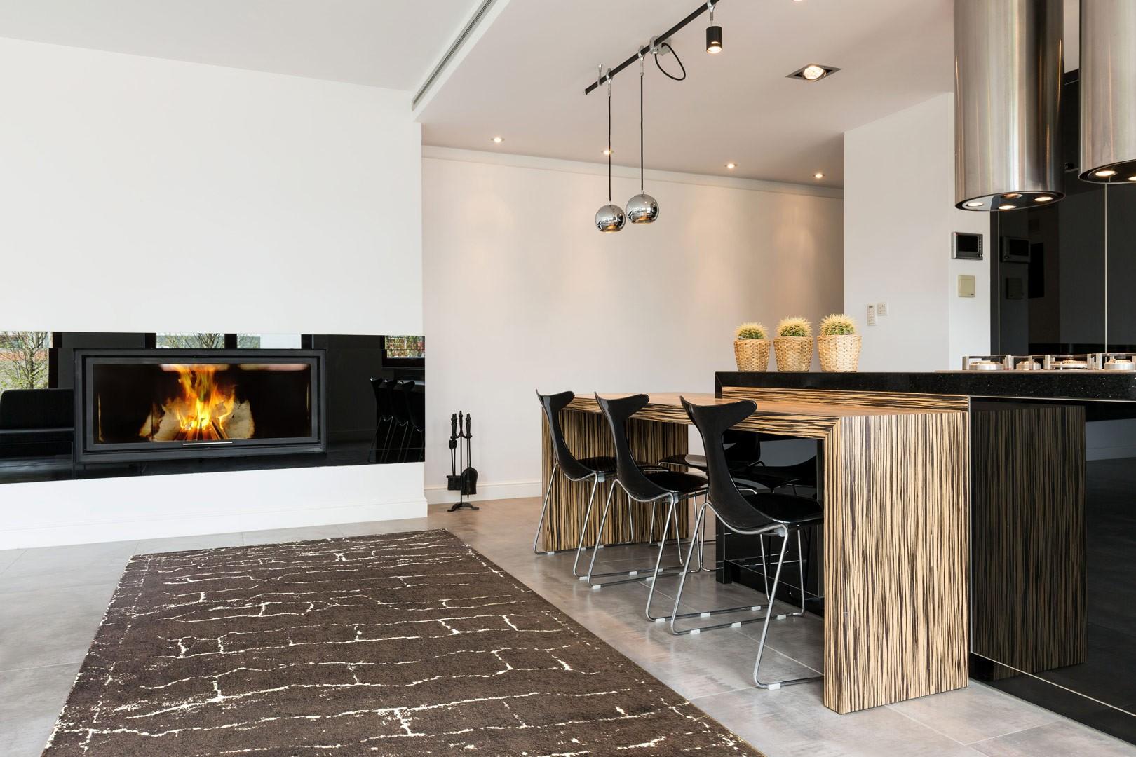 Tapis vintage café pour intérieur design Etoli