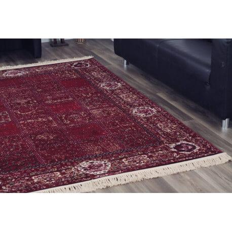 Tapis excellent oriental rouge en 5 tailles Bordure