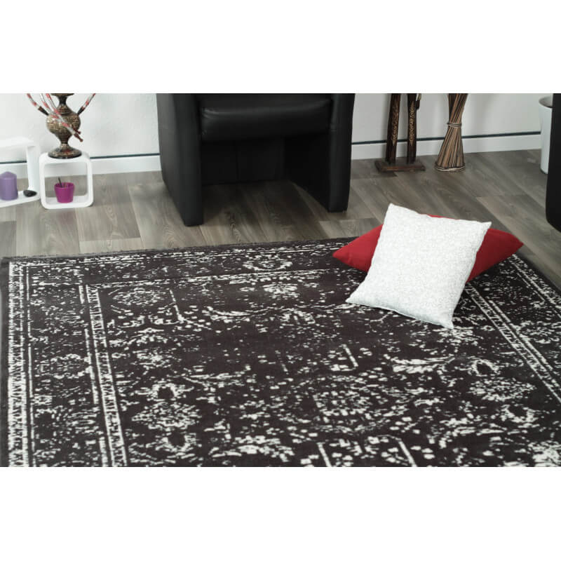 tapis style oriental vintage anthracite lummus. Black Bedroom Furniture Sets. Home Design Ideas