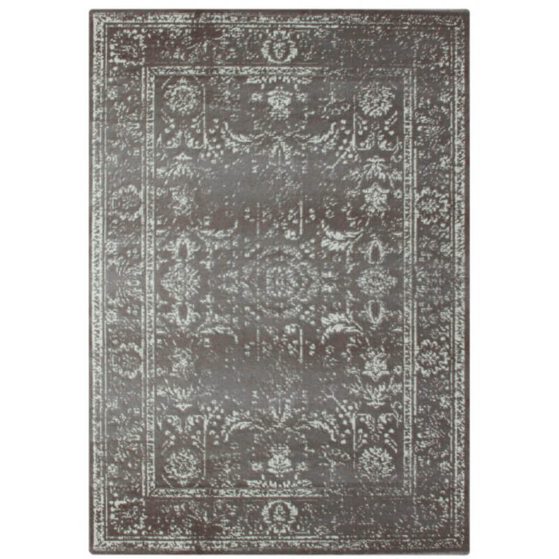 tapis style oriental vintage argent lummus. Black Bedroom Furniture Sets. Home Design Ideas