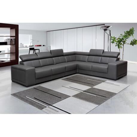 tapis g om trique moderne beige villandry. Black Bedroom Furniture Sets. Home Design Ideas