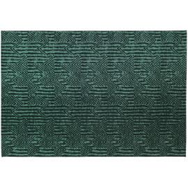 Tapis vert émeraude rectangulaire plat Etica