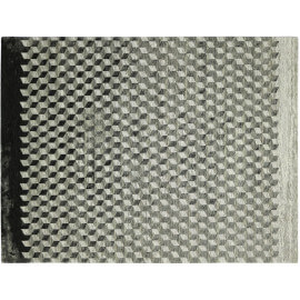 Tapis géométrique plat rectangle gris Infini