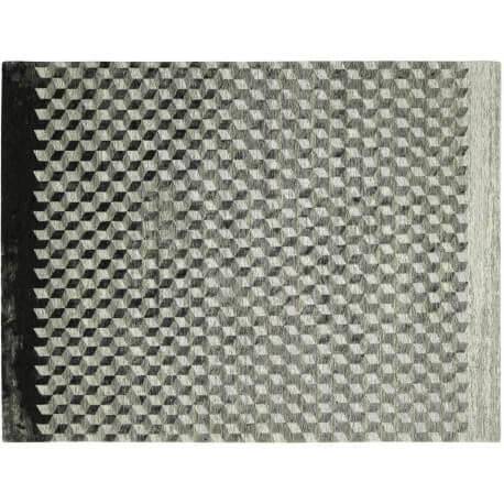 Tapis géométrique plat rectangle gris Infini