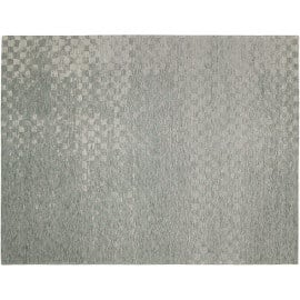 Tapis rayé cubique bleu clair de salon Check